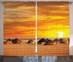 African Landscape Curtain