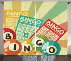 Pop Art Cards Lottery Curtain