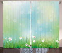 Spring Nature Field Curtain
