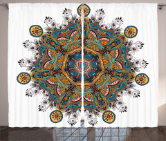Tribal Paisley Boho Art Curtain