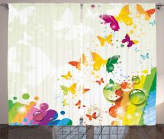 Butterfly Festival Art Curtain