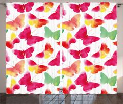 Watercolor Butterflies Curtain