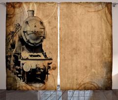 Aged Iron Train Curtain