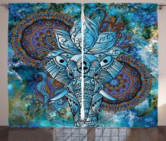Third Eye Symbol Curtain