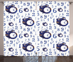 Caligraphic Numbers Curtain