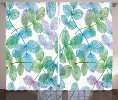 Flowers Leaves Ivy Ombre Curtain
