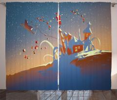 Santa Claus and Gift Curtain