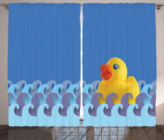 Floating Duck Waves Curtain