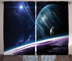 Universe with Planets Curtain