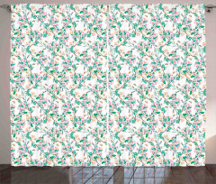 Japanese Spring Blossoms Curtain