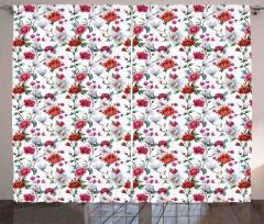 Romantic Magnolia Nature Curtain