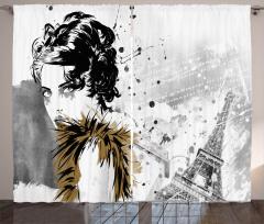 Fashion Model Paris Girl Curtain