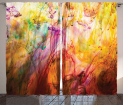 Rainbow Colored Image Curtain