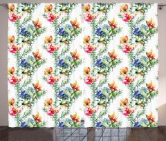 Shabby Chic Lilacs Curtain