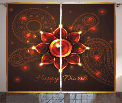 Beams and Diwali Wishes Curtain