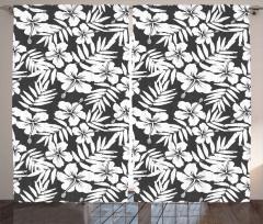 Exotic Hibiscus Flower Curtain