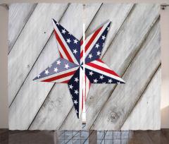 Star Figure US Flag Curtain
