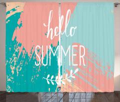 Hello Summer Lettering Curtain