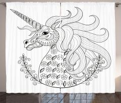Fantasy Unicorn Curtain