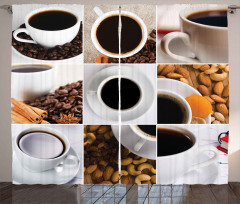 Coffee Almonds Cashews Curtain
