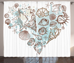 Scallop Starfish Whelk Curtain
