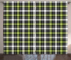 Vertical Square Lines Curtain