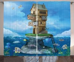Fantasy Fisherman House Curtain