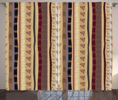 Ethnic Striped Ornament Curtain