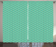Wavy Horizontal Lines Curtain