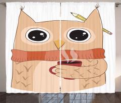 Cute Animal Coffee Student Curtain