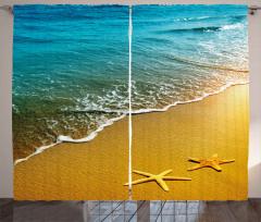 Caribbean Asian Ocean Curtain