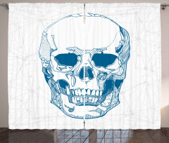 Skull Science Elements Curtain