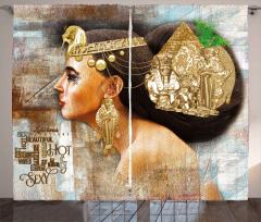 Queen Cleopatra Artful Curtain