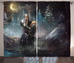 Medieval Dwarf Knight Curtain