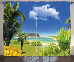 Paradise Palms Island Curtain