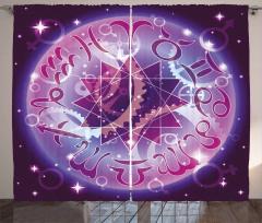 Zodiac Circle Space Curtain