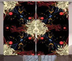 Medieval Mystic Lion Curtain