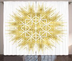 Geometric Vivid Curtain