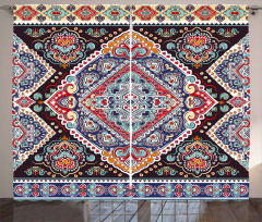 Vibrant Vintage Bohemian Curtain