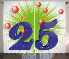 Twenty Five Stars Curtain