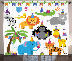 Wild Animals Birthday Curtain
