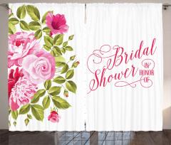 Bride Shabby Flowers Curtain
