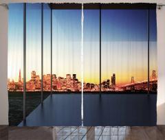 Usa New York Bridge Curtain