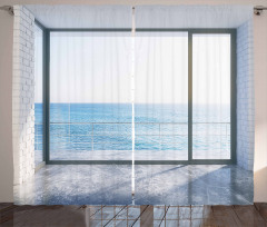 Ocean Scenery Apartment Curtain