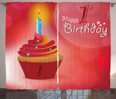 Party Cupcake Candle Curtain