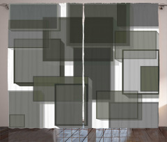 Cubes Modern Abstract Curtain