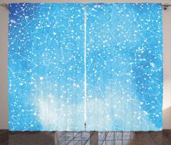 Astronomy Artwork Curtain