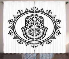 Hamsa Mandala Amulet Curtain