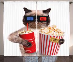 Cat Popcorn Curtain
