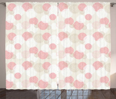 Soft Spring Floral Motif Curtain